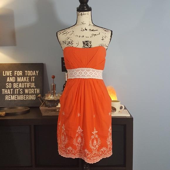 🍷 Speechless Summer Dress Juniors 13 Orange